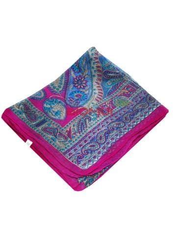 Шелковый шарф (ярко малиновый)Платки<br><br>