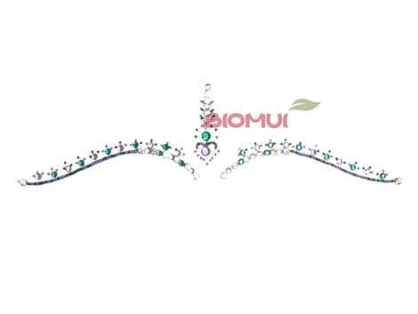 """Бинди с надбровными украшениями (тату из страз) """"Sky"""" от BioMui"""