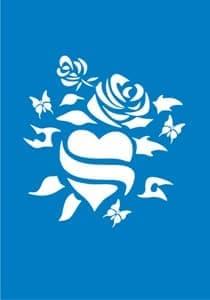 "Самоклеющийся трафарет ""Heart&rose"" от BioMui"