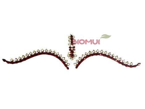 Бинди с надбровными украшениями (тату из страз)