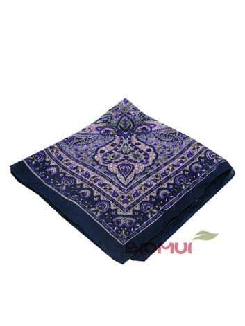 Шелковый платок (сине-фиолетовый)