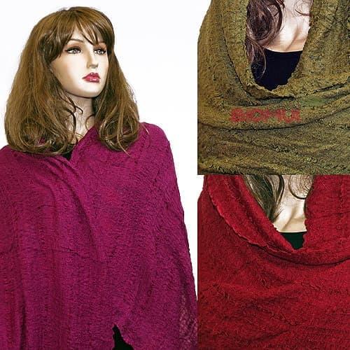 Вискозно-хлопковый шарф-платок (жатка)Платки<br>Размер шарфа 180 см. на 55 см.<br>