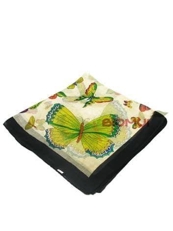 Шелковый платок Бабочки (черный)Платки<br><br>