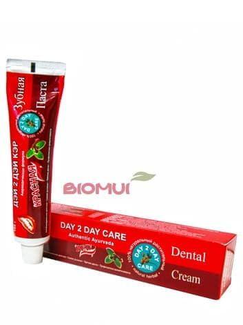 Натуральная растительная зубная паста с красным перцем