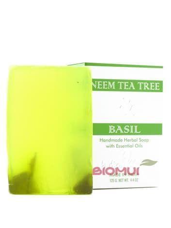 Антисептическое мыло с базиликом, чайным деревом и нимом «Indian Khadi»