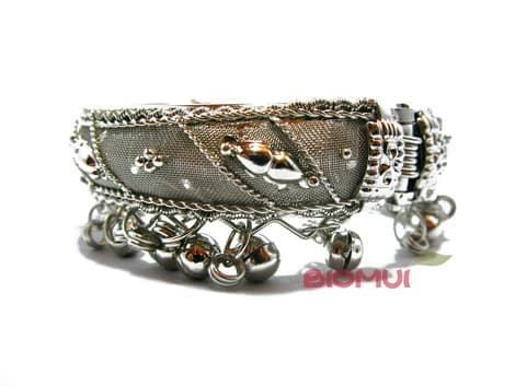 Индийский браслет с колокольчиками (серебряный)
