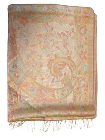 Шелковый платок с отливом плотный двухсторонний (песочный)Платки<br><br>