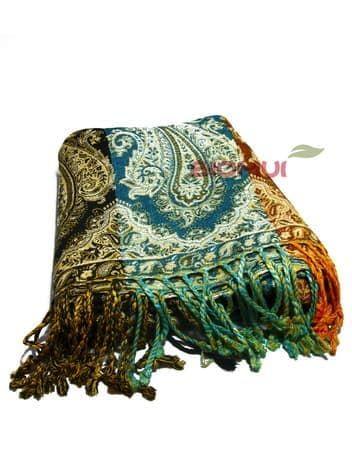 Палантин в полоску (черный, голубой, коричневый)Платки<br><br>
