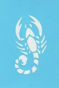Самоклеющийся трафарет ScorpionТрафарет для менди<br><br>