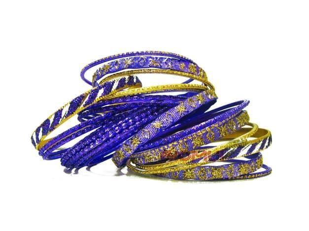 Индийский браслет-кольца (индиго)