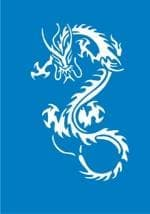 """Самоклеющийся трафарет """"Magic dragon"""" (большой) от BioMui"""