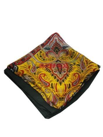 Шелковый платок (золото с черным)