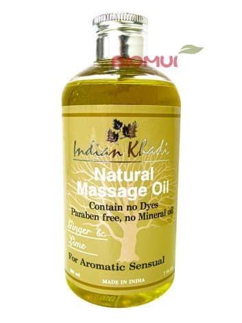 """Освежающее массажное масло с лимоном и имбирем """"Indian Khadi"""" от BioMui"""
