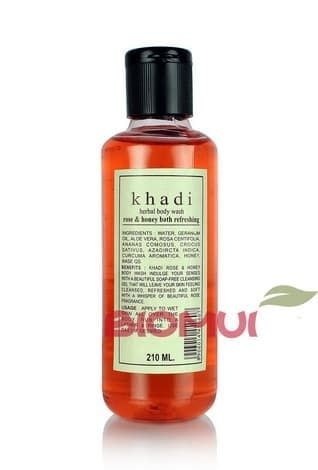 """Освежающий пенящий гель для тела с розой и медом """"Khadi"""" от BioMui"""