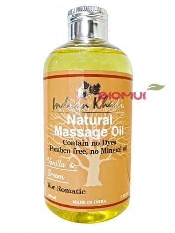 Романтическое массажное масло с ванилью Indian KhadiМассажное масло<br>Мягкий и деликатный аромат ванили расслабляет и завораживает, окутывая тело будто теплым одеялом.<br>