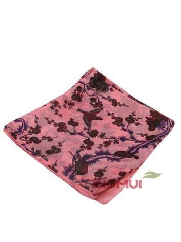 Шелковый платок Сакура (розовый)Платки<br><br>