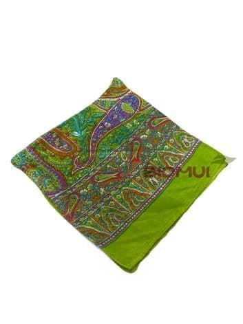 Шелковый платок с индийским узором (салатовый)Платки<br><br>