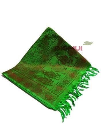 Шелковый платок Хамелеон (зеленый с бордовым отливом)Платки<br><br>