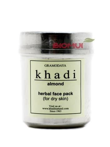 Сухая разглаживающая маска-убтан для лица с миндалем Khadi (коррекция морщин)Маска<br>Маска создана для глубоко очищения сухой кожи, а также для коррекции первых возвратных изменений. Выравнивает и освежает цвет лица, очищает поры, разглаживает.<br>