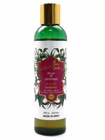 Увлажняющий шампунь с розой и жасмином Khadi OrganicНатуральный шампунь<br>Этот шампунь поможет решить проблему чувствительной кожи головы, а также сухих и тусклых локонов.<br>