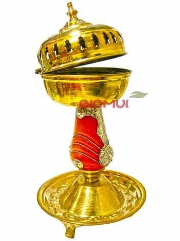 Железная углевая бахурница ручной работы (отделка под золото)Бахурницы<br><br>