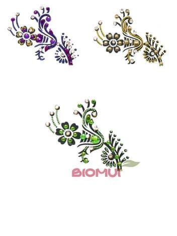 Бинди для тела (тату из страз) FlowerБинди<br>Цвета в ассортименте.<br>