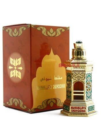 Масляные духи Mukhallath Shuyookhi GoldЭксклюзивные духи<br>Таинственный и неоднозначный парфюм с загадочным шлейфом. В нем есть все: и цветы, и мускус, и терпкий сандал.<br>