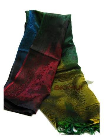Шелковый платок с градиентной заливкой Хамелеон (арабская ночь)Платки<br><br>
