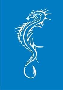 Самоклеющийся трафарет Slim dragonТрафарет для менди<br><br>