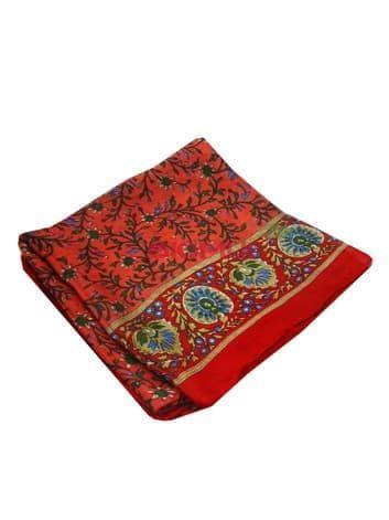 Шелковый платок Цветы (красный)Платки<br><br>