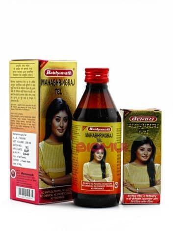 Укрепляющее масло против поседения волос МахаБрингарадж BaidyanathМасло для волос<br>Эффективно останавливает и предотвращает раннее поседение, сохраняя живой и насыщенный цвет Лечит кожу головы и укрепляет корни.<br>