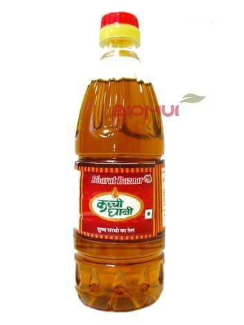 Масло горчицы Bharat Bazaar (нерафинированное, пищевое)Базовые масла<br>Горчичное масло является уникальным продуктом с высоким содержанием витаминов, которое оживит и преобразит не только любое блюдо, но и организм в целом.<br>