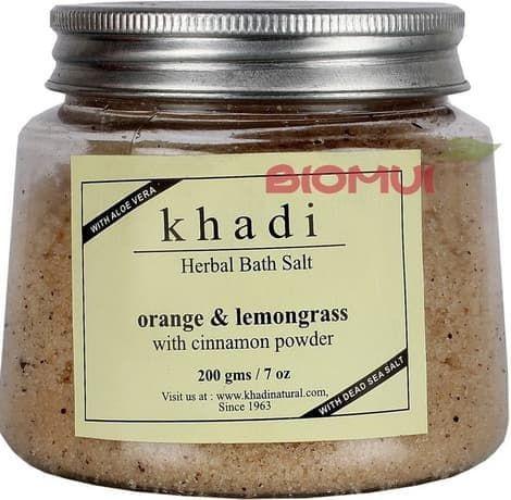 """Травяная соль для ванны с апельсином, лимонником и корицей """"Khadi"""" от BioMui"""