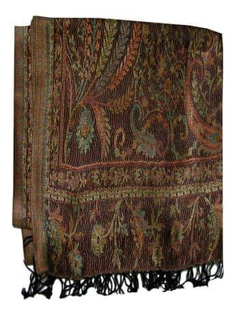 Шелковый платок с отливом плотный двухсторонний (черное золото) от BioMui