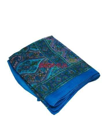 Шелковый шарф (голубой)Платки<br><br>