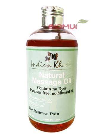 Согревающее массажное масло с корицей и пачули Indian KhadiМассажное масло<br>Высокоэффективная смесь масел для снятия мышечных и суставных болей. Расслабляет и согревает.<br>