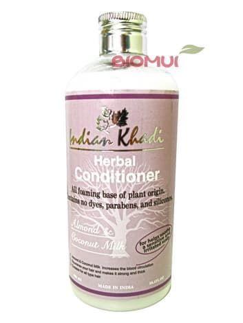 """Натуральный кондиционер с кокосовым молоком и миндалем """"Indian Khadi"""" от BioMui"""