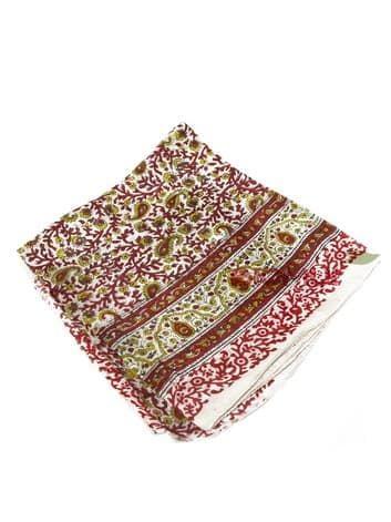 Шелковый платок с узором (светло-бежевый)Платки<br><br>
