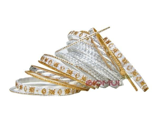 Индийский браслет-кольца (белый)