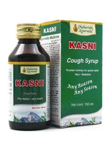Сироп от кашля Касни (Kasni) Maharishi AyurvedaПищевые и витаминные добавки<br>Сироп Kasni «Maharishi Ayurveda» - суперэффективный аюрведический перпарат от кашля на основе целебных трав. Ему под силу лечение респираторной аллергии, носовых отеков, запущенного насморка и воспалений дыхательных путей.<br>