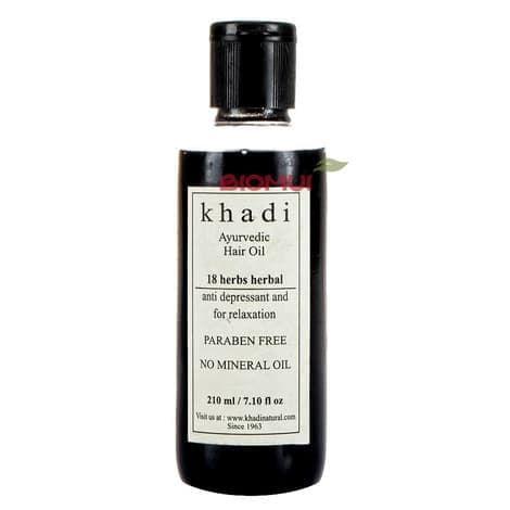 Аюрведическое масло для волос «18 трав» KhadiМасло для волос<br>Традиционно индийское масло для комплексного ухода за волосами любого типа.<br>