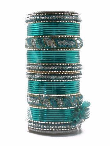 """Свадебный набор браслетов """"Vedinga"""" (Зеленый) от BioMui"""