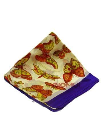 Шелковый платок Бабочки (фиолетовый)Платки<br><br>