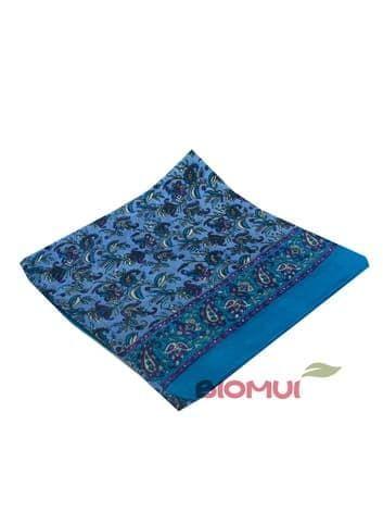 Шелковый платок Цветы (морская волна)Платки<br><br>