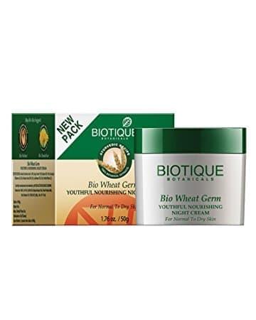 Питательный ночной крем для лица с зародышами пшеницы BiotiqueКрем<br>Интенсивный питательный крем для сухой кожи лица, корректирующий выраженные возрастные изменения кожи.<br>