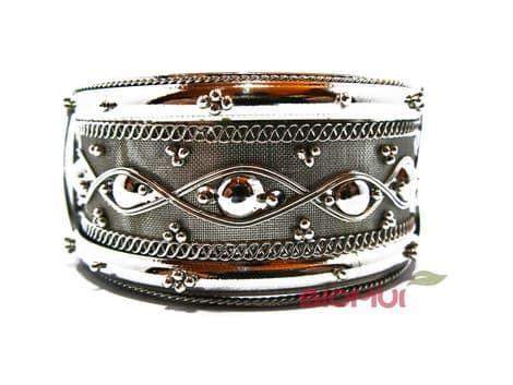 Индийский браслет широкий (серебряный)