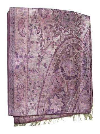 Шелковый платок с отливом плотный двухсторонний (нежное индиго) от BioMui