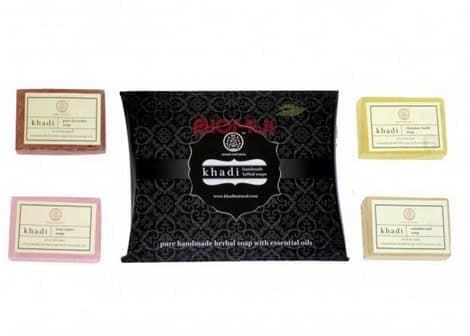 Подарочный набор травяного мыла с эфирными маслами  Khadi