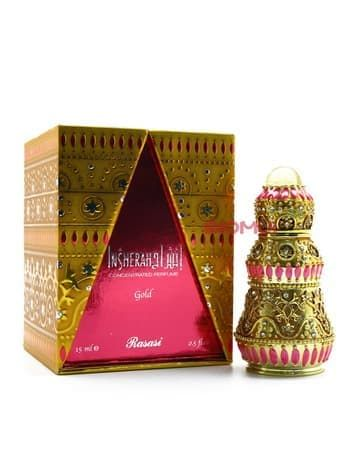 Масляные духи Insherah GoldЭксклюзивные духи<br>Роскошный женский парфюм со сложной композицией. На теле он раскрывается многослойным и богатым звучанием, которое никого не оставит равнодушным!<br>