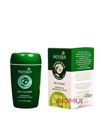 Осветляющий крем для лица с кокосовым молоком BiotiqueКрем<br>Данный крем не только полноценное питательное средство для ежедневного ухода, но и эффективный корректор различных форм пигментации.<br>